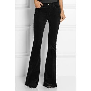 J BRAND Martini Black Velvet Flare Pants Size 25